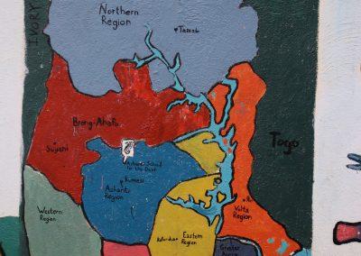 Muurschildering ghana