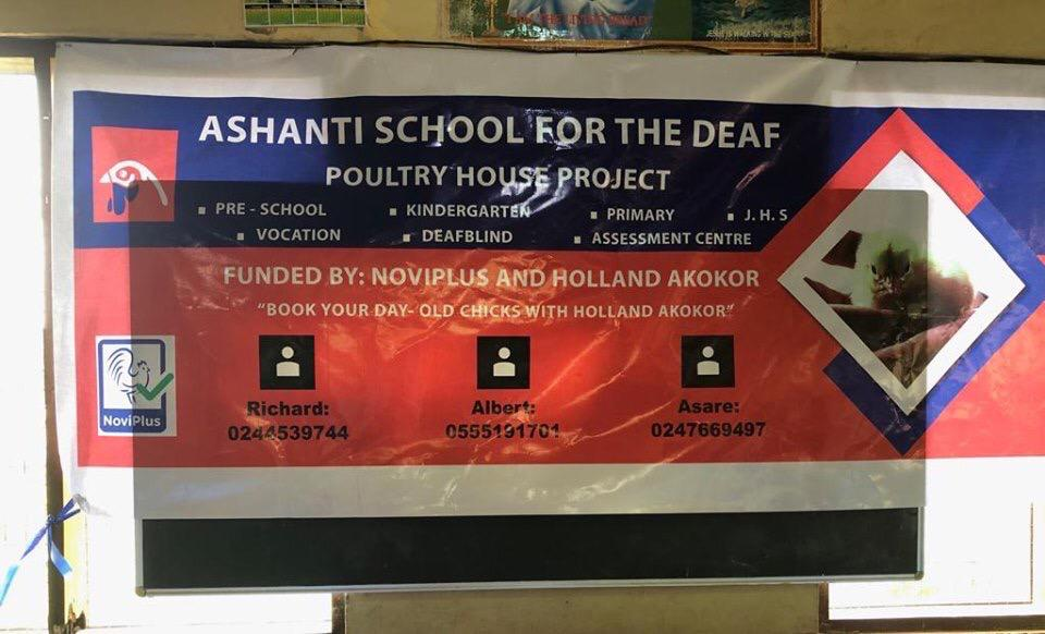 Kippenproject Ashanti School for the Deaf Jamasi